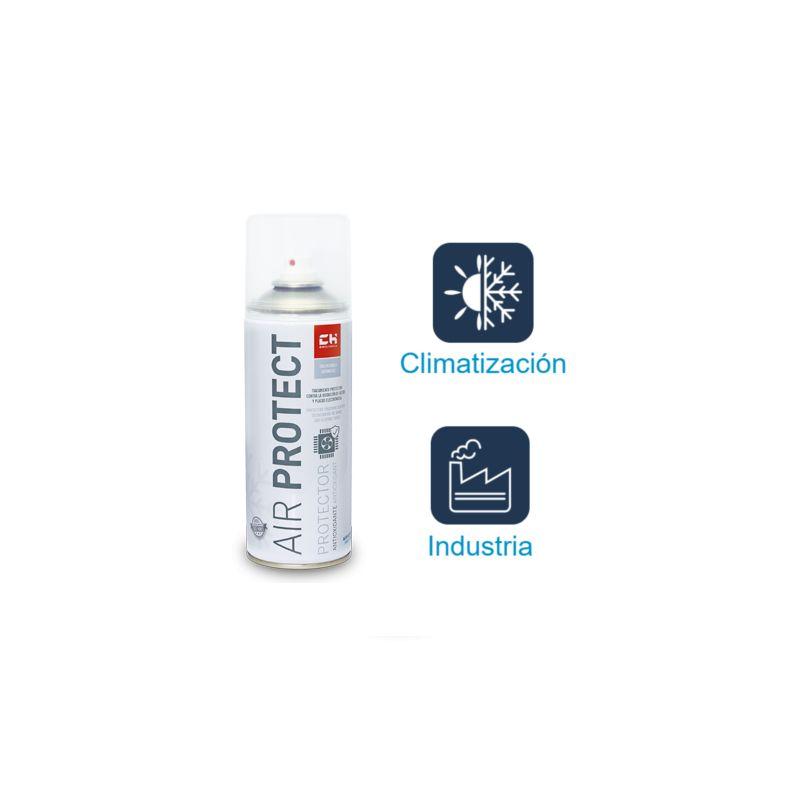 Varios Aire Acondicionado CH QUIMICA, S.L. Airpur Protect sp Barniz protector para Aletas en Intercambiadores contra oxidación Bote Spray 400ml
