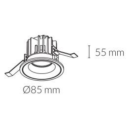 BPM LIGHTING KOHL-LIGHTING Aro led Luxo estanco IP65 blanco 12W 3000K de Kohl Lighting K50153.W.3K