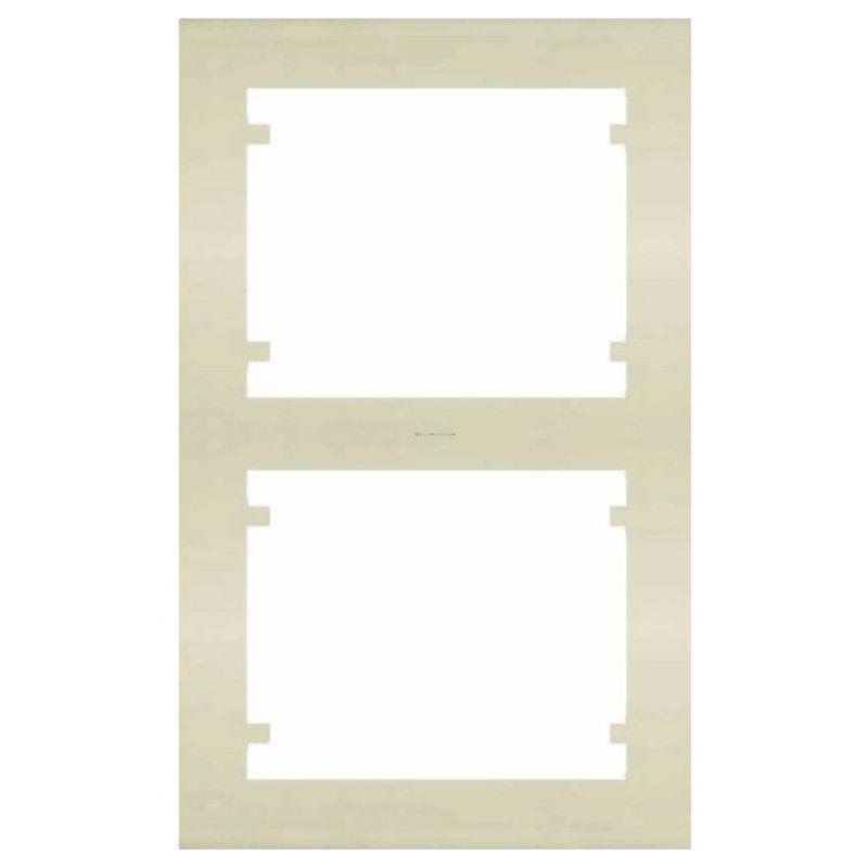 Interruptores y Enchufes por marca BJC Marco 2 Elementos vertical Beige BJC Iris 18102-A