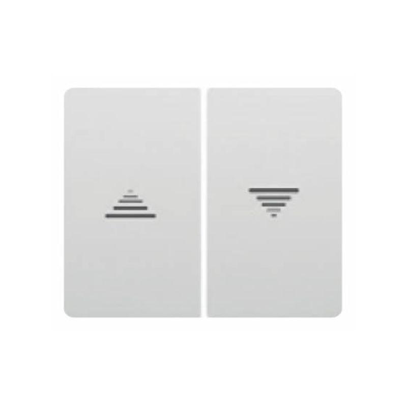Interruptores y Enchufes por marca BJC Doble tecla interruptor-pulsador persianas Blanco BJC Iris 18765