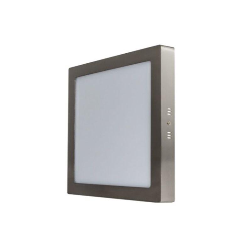 PRILUX PRILUX Downlight superficie cuadrado gris 18W 3000K Breno Prilux
