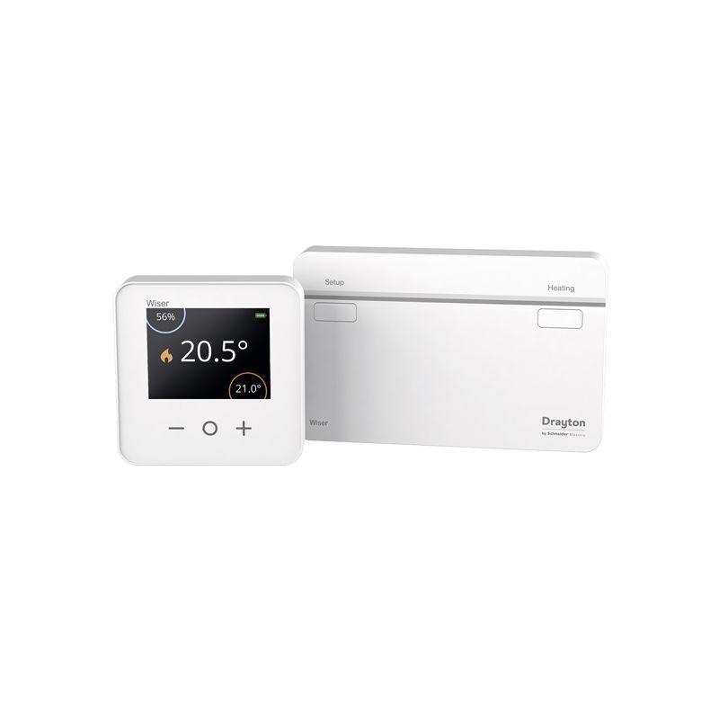 Interruptores y Enchufes por marca SCHNEIDER Wiser Heat kit termostato + Heat Hub CCTFR6901 Schneider