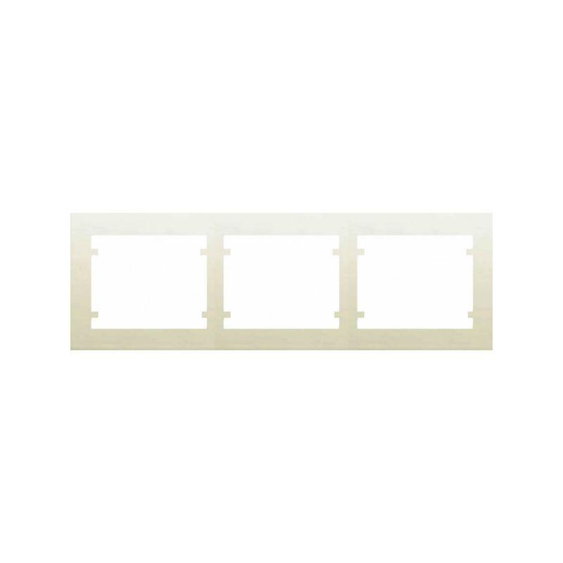 Interruptores y Enchufes por marca BJC Marco 3 Elementos horizontal Beige BJC Iris 18003-A