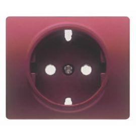 Tapa base enchufe schuko 2P+T seguridad Rojo Rubi BJC Iris 18724-RR