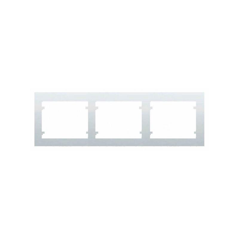 Interruptores y Enchufes por marca BJC Marco 3 Elementos horizontal Blanco BJC Iris 18003