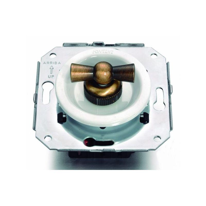 Interruptores y Enchufes por marca FONTINI Conmutador blanco + lazo patiné Fontini Venezia 35-308-59-2