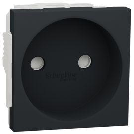 Base enchufe 2P ancha antracita Schneider New Unica NU303354