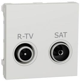Toma R-TV/SAT Derivación blanco polar Schneider New Unica NU345418