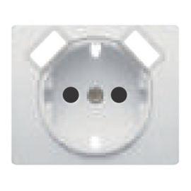 Tapa base de enchufe schuko con USB blanco BJC Iris 18724-USB