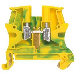 Borna de conexión Viking 3 color verde/amarillo 4 mm2 carril din