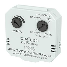 DIM LED Regulador de luminosidad para montaje oculto en caja Universal o Registro OB200009