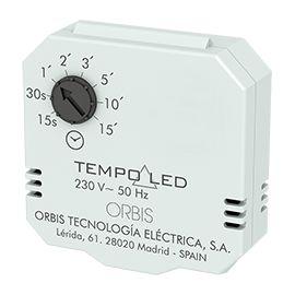 Orbis TEMPOLED Minutero, automático de Escalera para caja universal o registro lámparas LED 15s a 15 min