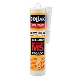 Sellador adhesivo polímero blanco 280ml TOT-MS20 Collak