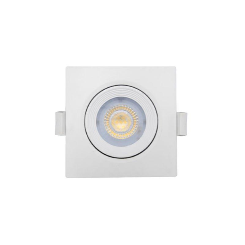 Focos de empotrar led cuadrados PRILUX Foco led cuadrado blanco 6,5W Nahe luz neutra 840 Prilux