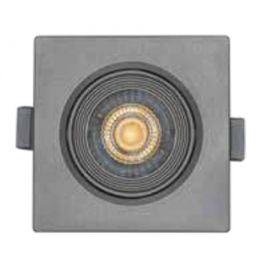 Foco led cuadrado gris 6,5W Nahe SQ luz cálida 830 Prilux