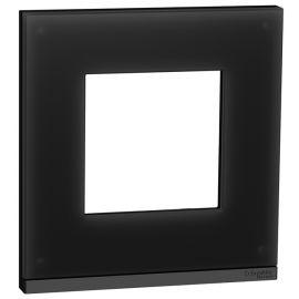 Marco 1 Elemento cristal negro Schneider New Unica Pure NU600286