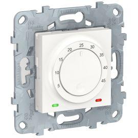 Termostato calefaccion suelo 10A blanco polar Schneider New Unica NU550318