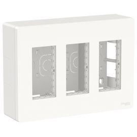 Puesto de Trabajo 3 columnas superficie blanco polar Schneider New Unica NU123418