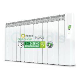 Emisor Térmico de Fluido Rointe Serie Kyros Programación Digital 15 Elementos Color Blanco