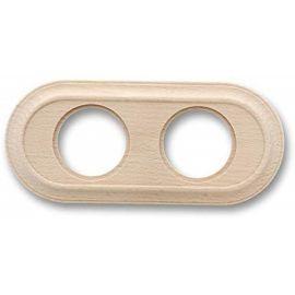 Marco 2 elementos madera haya sin barniz clásica Fontini Venezia 35-802-00-2