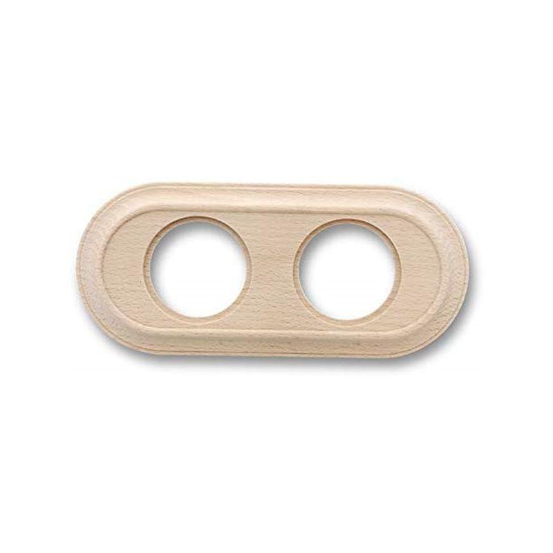 Interruptores y Enchufes por marca FONTINI Marco 2 elementos madera haya sin barniz clásica Fontini Venezia 35-802-00-2