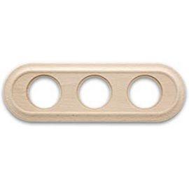 Marco 3 elementos madera haya sin barniz oval Fontini Venezia 35-803-00-2
