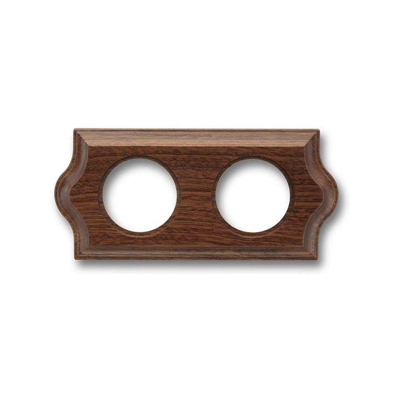 Interruptores y Enchufes por marca FONTINI Marco 2 elementos madera sapelly clásica Fontini Venezia 36-802-16-2