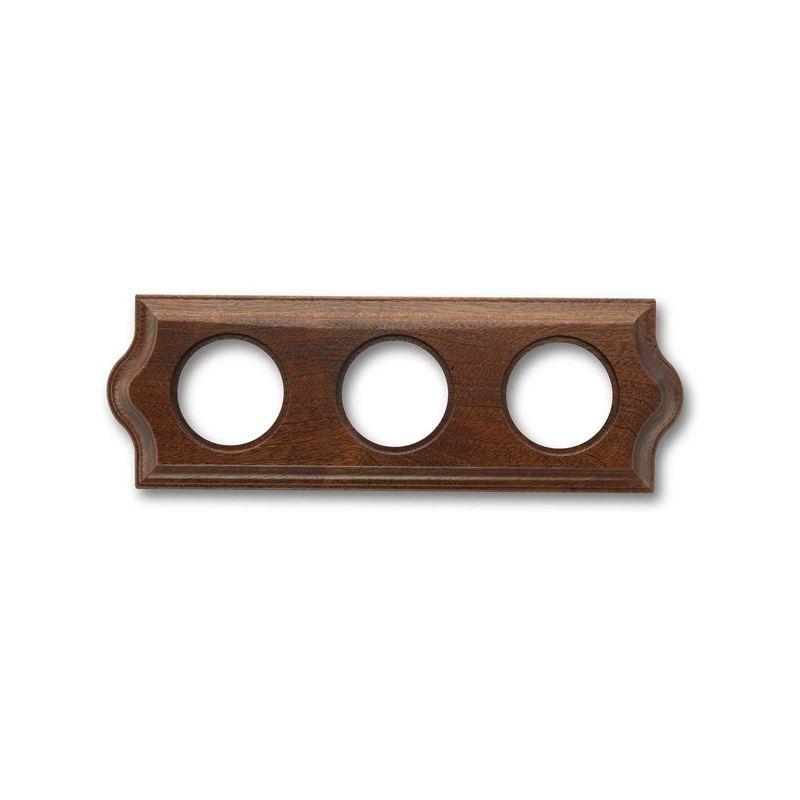 Interruptores y Enchufes por marca FONTINI Marco 3 elementos madera sapelly clásica Fontini Venezia 36-803-16-2