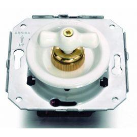 Conmutador blanco + lazo porcelana blanca Fontini Venezia 35-308-17-2