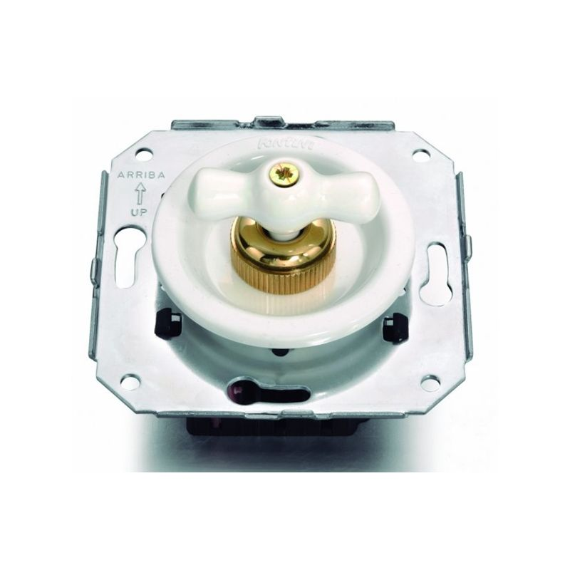 Interruptores y Enchufes por marca FONTINI Interruptor blanco + lazo porcelana blanca Fontini Venezia 35-306-17-2