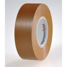 Cinta aislante de PVC 19mm x 20m marrón HellermannTyton