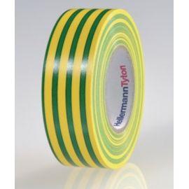 Cinta aislante de PVC 19mm x 20m verde-amarillo HellermannTyton