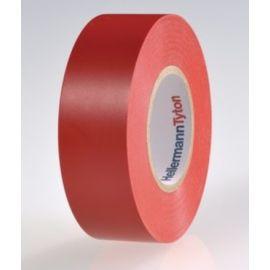 Cinta aislante de PVC 19mm x 20m rojo HellermannTyton