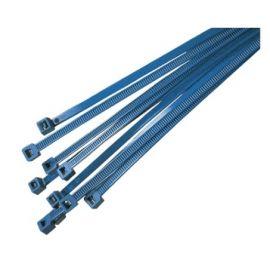 Bridas para la industria alimenticia detectables 100x2,5mm azul HellermannTyton PA66MP BU