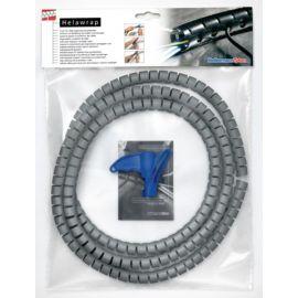 Organizador de cables espiral plata 2m x 16mm diámetro max. HellermannTyton