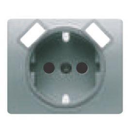Tapa base enchufe schuko con USB aluminio mercurio BJC Iris 18724-USB-MA