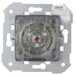 Auxiliar de tacto luminoso azul Simon 75306-69 series 75,82