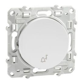Pulsador simbolo campana blanco Schneider Odace S520246