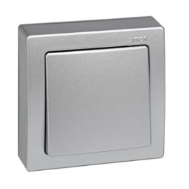 Conmutador monobloc aluminio Simon73 Loft 73201-53
