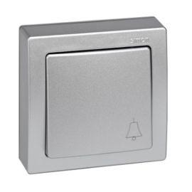 Pulsador monobloc campana aluminio Simon73 Loft 73150-53