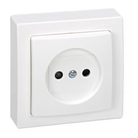Base enchufe bipolar monobloc blanco Simon73 Loft 73431-50