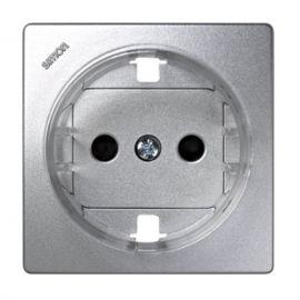 Tapa enchufe schuko aluminio Simon73 Loft 73041-63