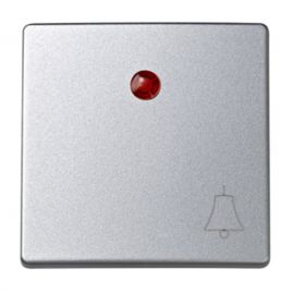 Tecla con visor y símbolo campana aluminio Simon73 Loft 73015-63