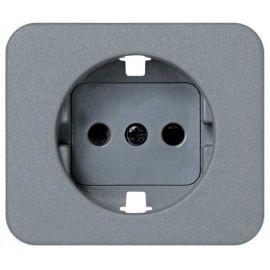 Tapa enchufe schuko 2P+TT gris Simon 75 75041-65