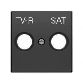 Tapa toma TV-R/SAT negro Niessen Sky 8550.1 NS