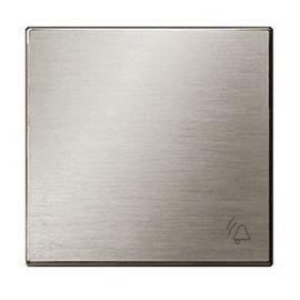 Tecla pulsador símbolo timbre de acero inox Niessen Sky 8504 AI