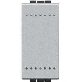 Interruptor 16A estrecho aluminio Bticino Livinglight NT4001A