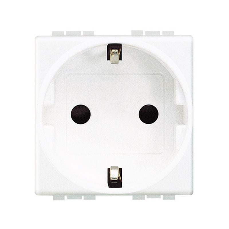 Interruptores y Enchufes por marca BTICINO Base enchufe Schuko 2P+T blanco Bticino Livinglight N4141