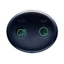Tapa para toma TV-R/SAT antracita Niessen Tacto 5550.1 AN