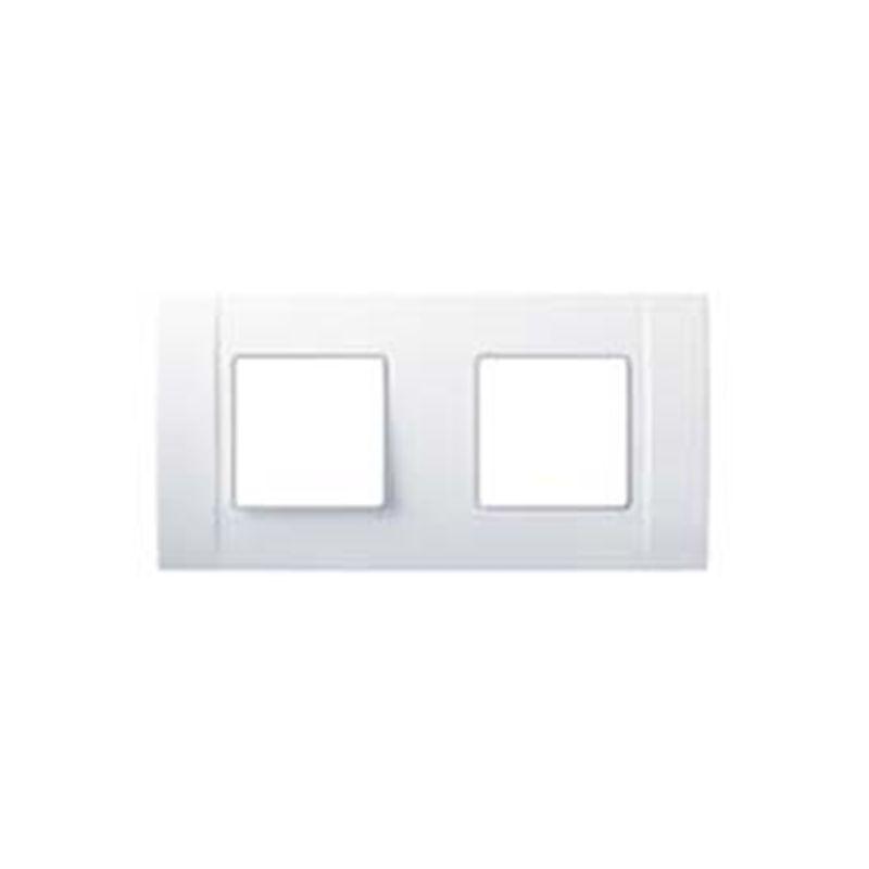 Interruptores y Enchufes por marca ABB NIESSEN Marco 2 elementos sin garras blanco Niessen Restylo 2772.1 BA